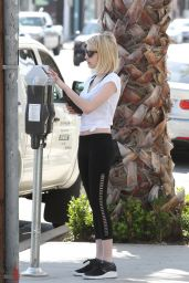 Emma Roberts in Leggings - Heading to a Gym in Los Angeles 2/25/2016