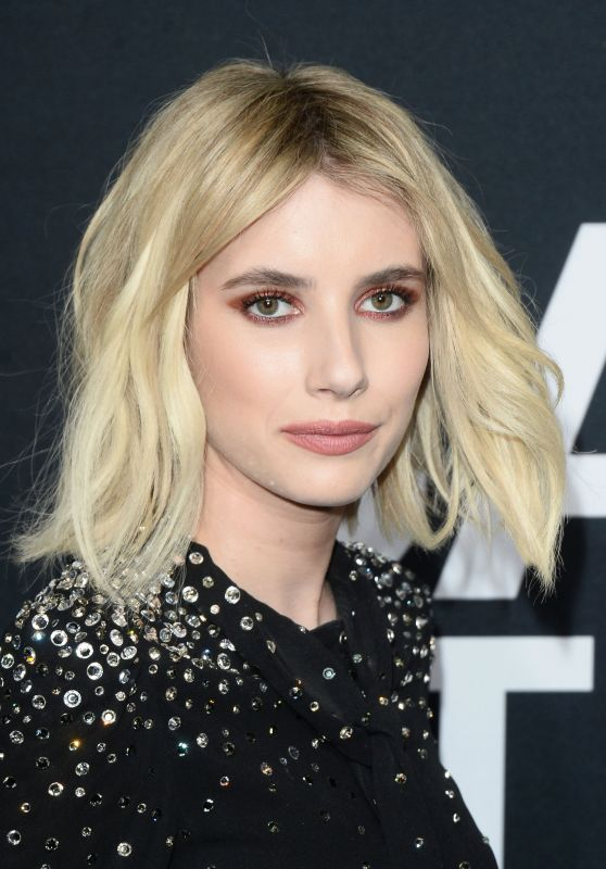 Emma Roberts – Saint Laurent Show at The Palladium in Los Angeles 2/10/2016