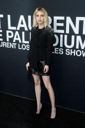 Emma Roberts – Saint Laurent Show at The Palladium in Los Angeles 2/10/2016