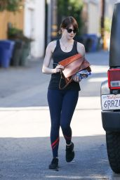 Emma Stone in Spandex - Out in West Hollywood 2/8/2016