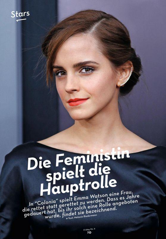 Emma Watson - 20 Minuten Friday Magazine #6 February 2016
