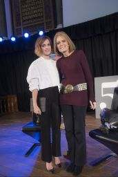 Emma Watson - Evening with Gloria Steinem at Emmanuel Centre in London, February 2016