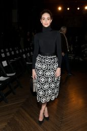 Emmy Rossum at the Monse Fashion Show in New York City, 2/12/2016