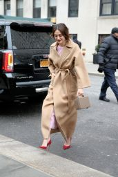 Emmy Rossum - Leaving the Carolina Herrera Fashion Show - NYFW 2/15/2016