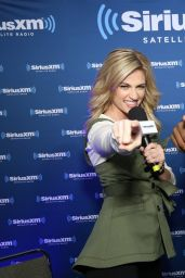 Erin Andrews – SiriusXM Set at Super Bowl 50 Radio Row in San Francisco, CA 2/5/2016