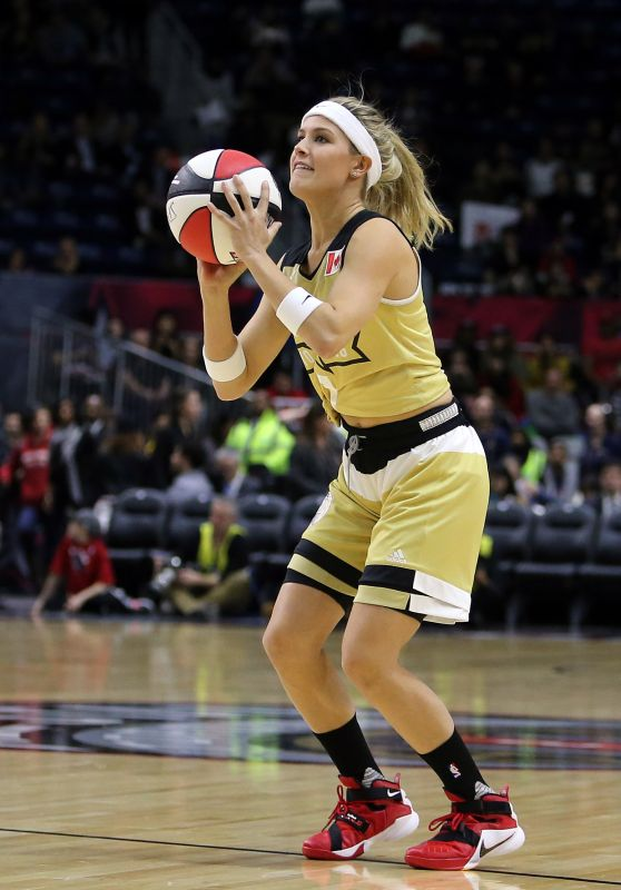 Eugenie Bouchard - NBA Celebrity All-Star Game in Toronto, February 2016