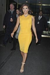 Eva Longoria in Yellow Dress - Today Show in New York City, NY 2/18/2016