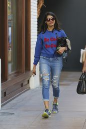 Freida Pinto in Ripped Jeans - Shopping at The Grove in West Hollywood, CA 2/22/2016