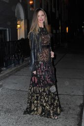 Georgina Chapman Night Out Style – Manhattan, NYC 2/8/2016