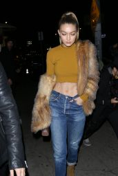 Gigi Hadid Night Out Style - The Nice Guy in West Hollywood, CA 01/29/2016