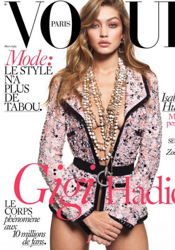 Gigi Hadid - Vogue Paris March 2016 Cover