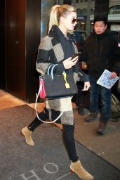 Hailey Baldwin - Leaving a Hotel in New York City, 2/9/2016