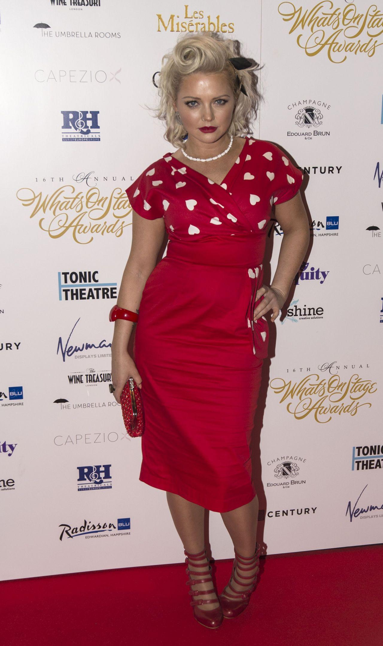 Hannah Spearritt 2016 Whatsonstage Awards In London