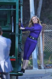 Heather Graham - 'Angie Tribeca' Set In Studio City 2/3/2016