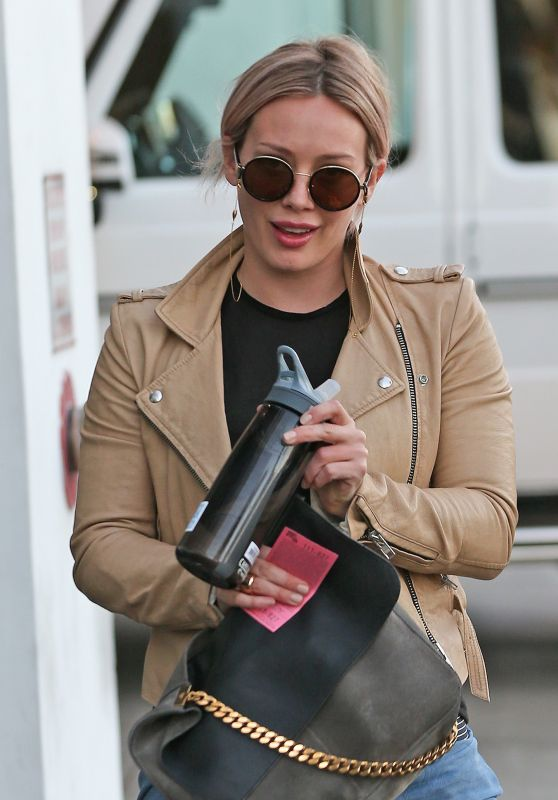 Hilary Duff - at the Gym in Los Angeles, February 2016