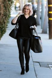 Hilary Duff - Heads to the Gym in West Hollywood, January 2016