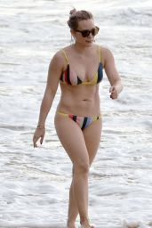 Hilary Duff in a Bikini at a Beach in Maui 2/4/2016