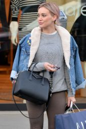 Hilary Duff in Leggigns - Out in Beverly Hills, CA 2/01/2016
