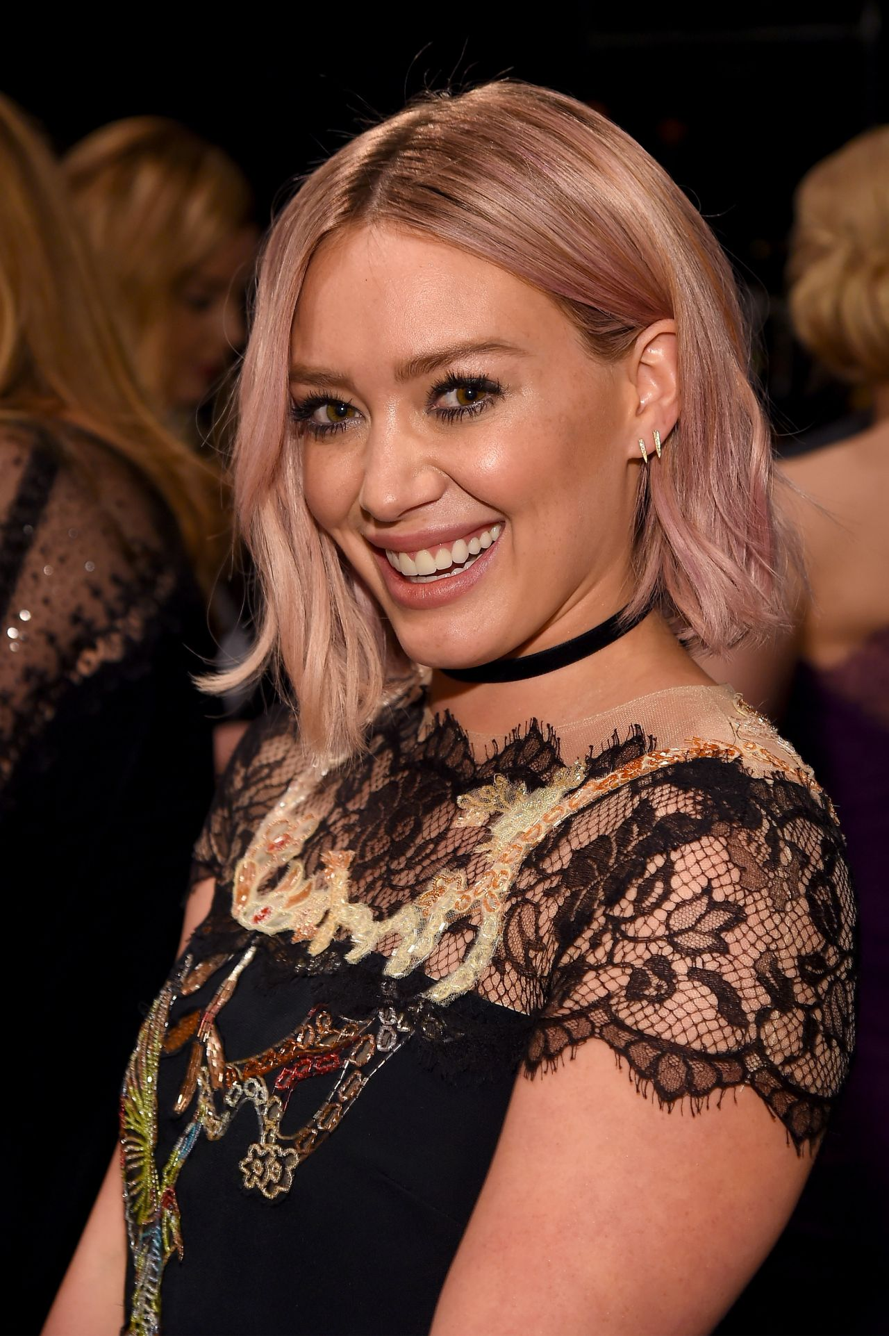 Hilary Duff - Monique Lhuillier Fall 2016 Presentation ... Hilary Duff