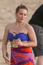 Hilary Duff Wearing Bikini Candids - Beach in Maui 2/7/2016