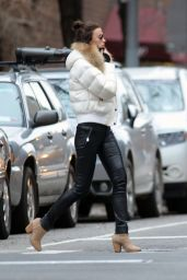 Irina Shayk Casual Style - Out in NYC 2/17/2016