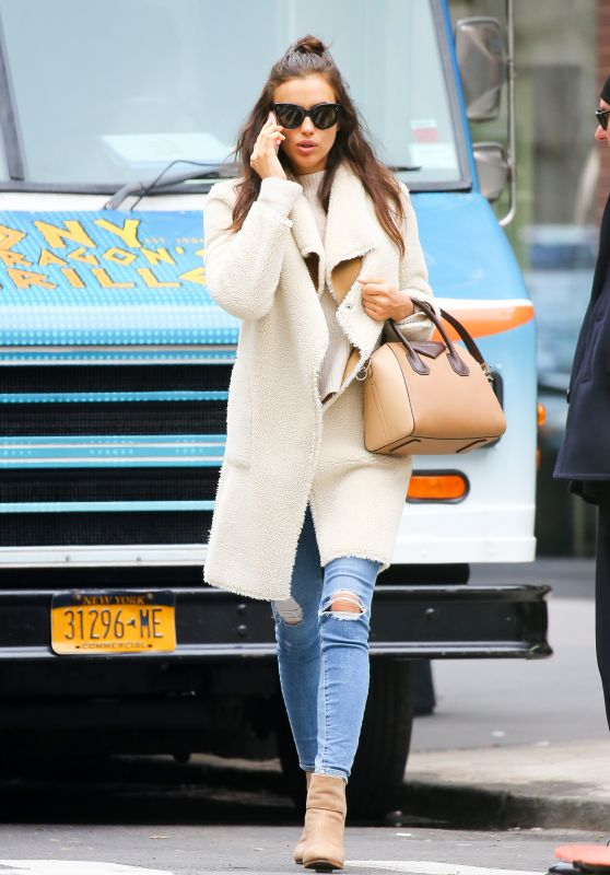 Irina Shayk - Walking Along Madison in New York City, February 2016