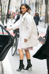 Jamie Chung Casual Style - Leaving the NBC Studios in New York City, NY, February 2016