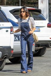 Jenna Dewan Tatum in Jump Suit Jeans - Out in LA 2/12/2016