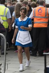 Jenna-Louise Coleman - on the set of