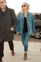 Jennifer Lawrence in Tight Jeans - Out in New York City 2/19/2016