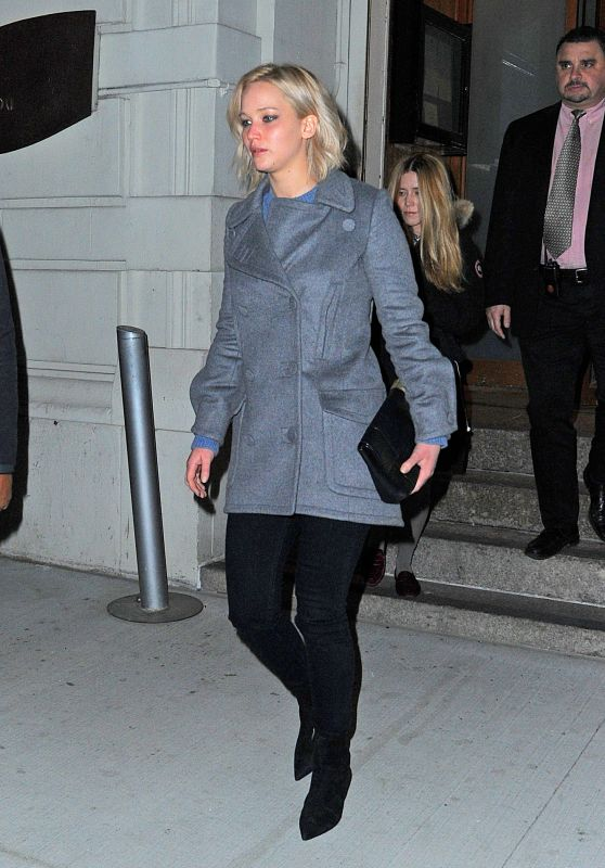 Jennifer Lawrence - Leaving Nobu in Tribeca After Dinner With a Friend - NYC 2/17/2016