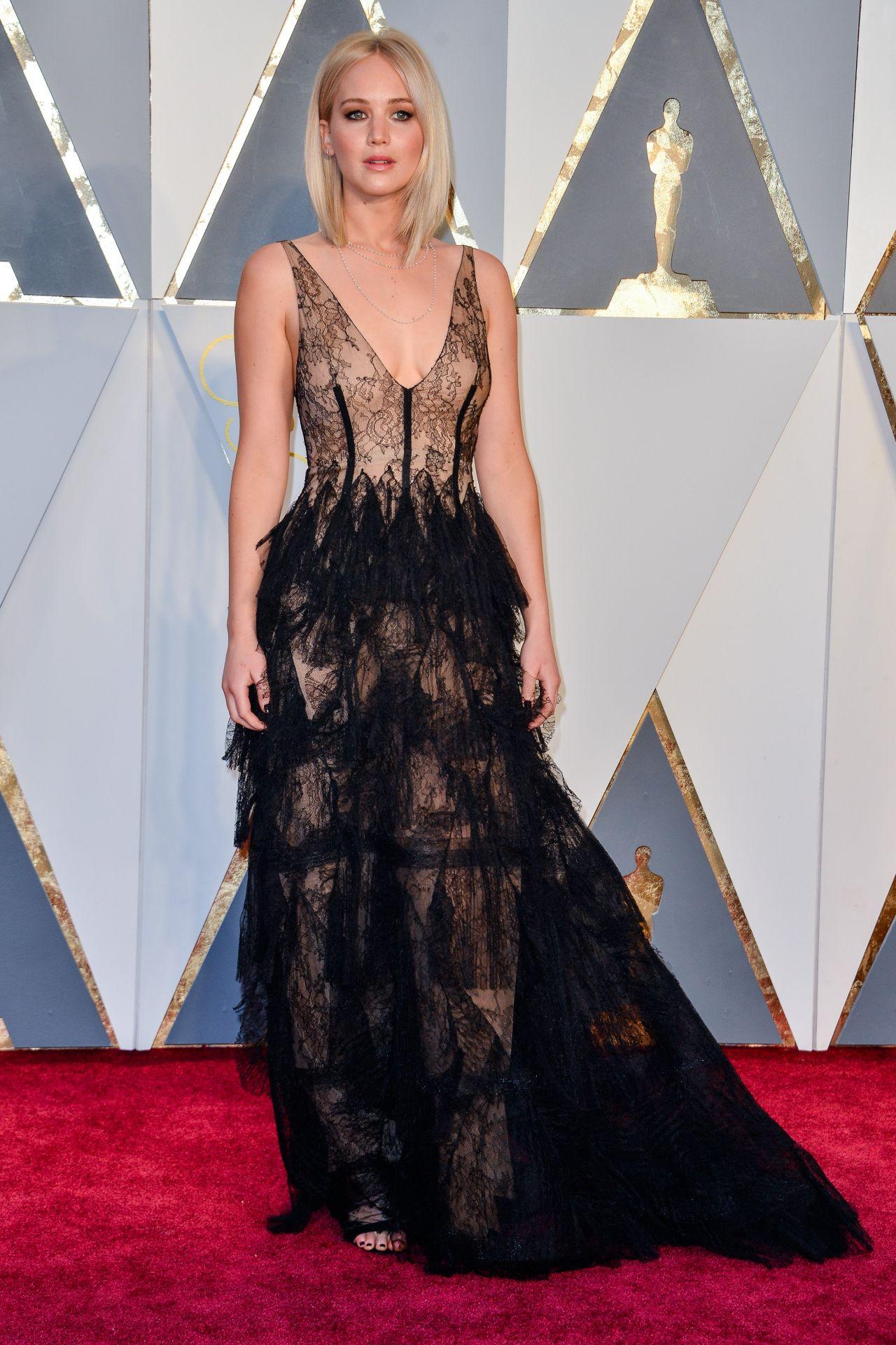 Jennifer Lawrence Oscars 2016 In Hollywood Ca 2 28 2016