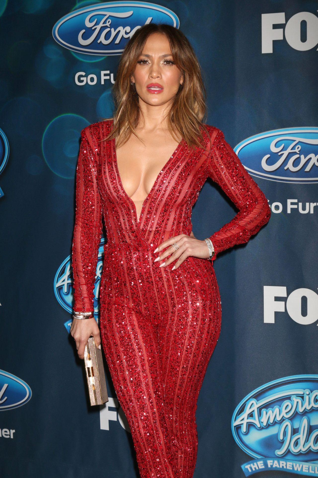 Jennifer Lopez Looks Red Hot in a Jumpsuit - American