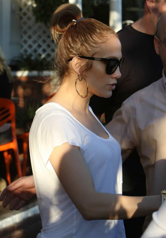 Jennifer Lopez Street Style - Out in West Hollywood 2/15/2016