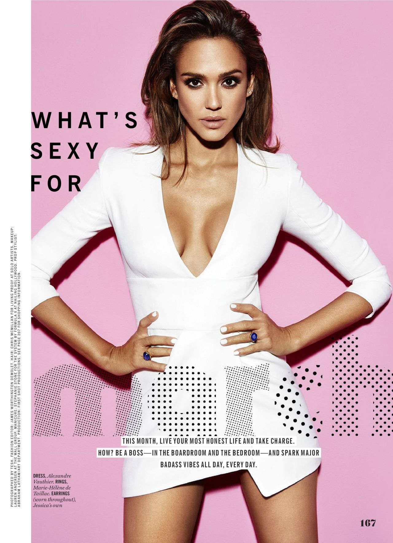 Jessica Alba Cosmopolitan Magazine March 2016 Issue