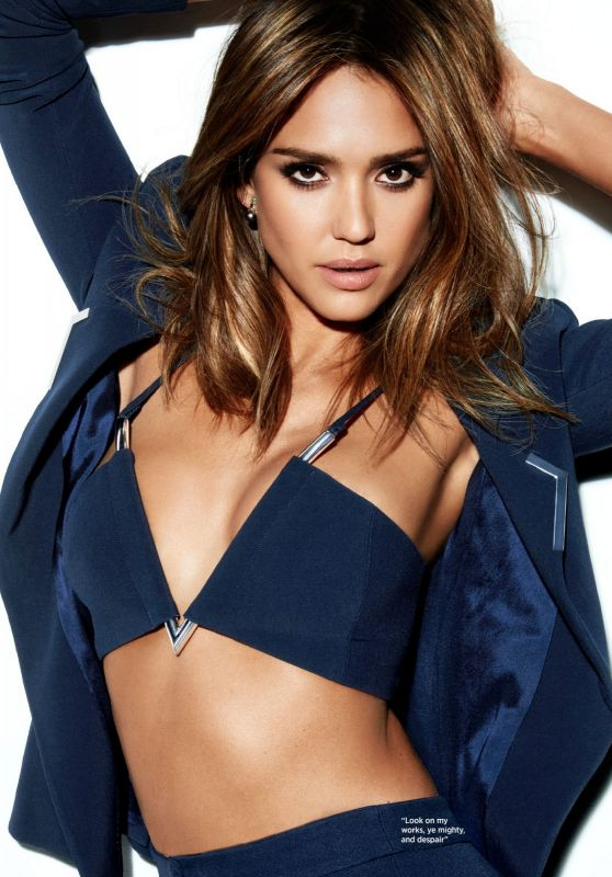 Jessica Alba - Cosmopolitan Magazine UK April 2016 Issue