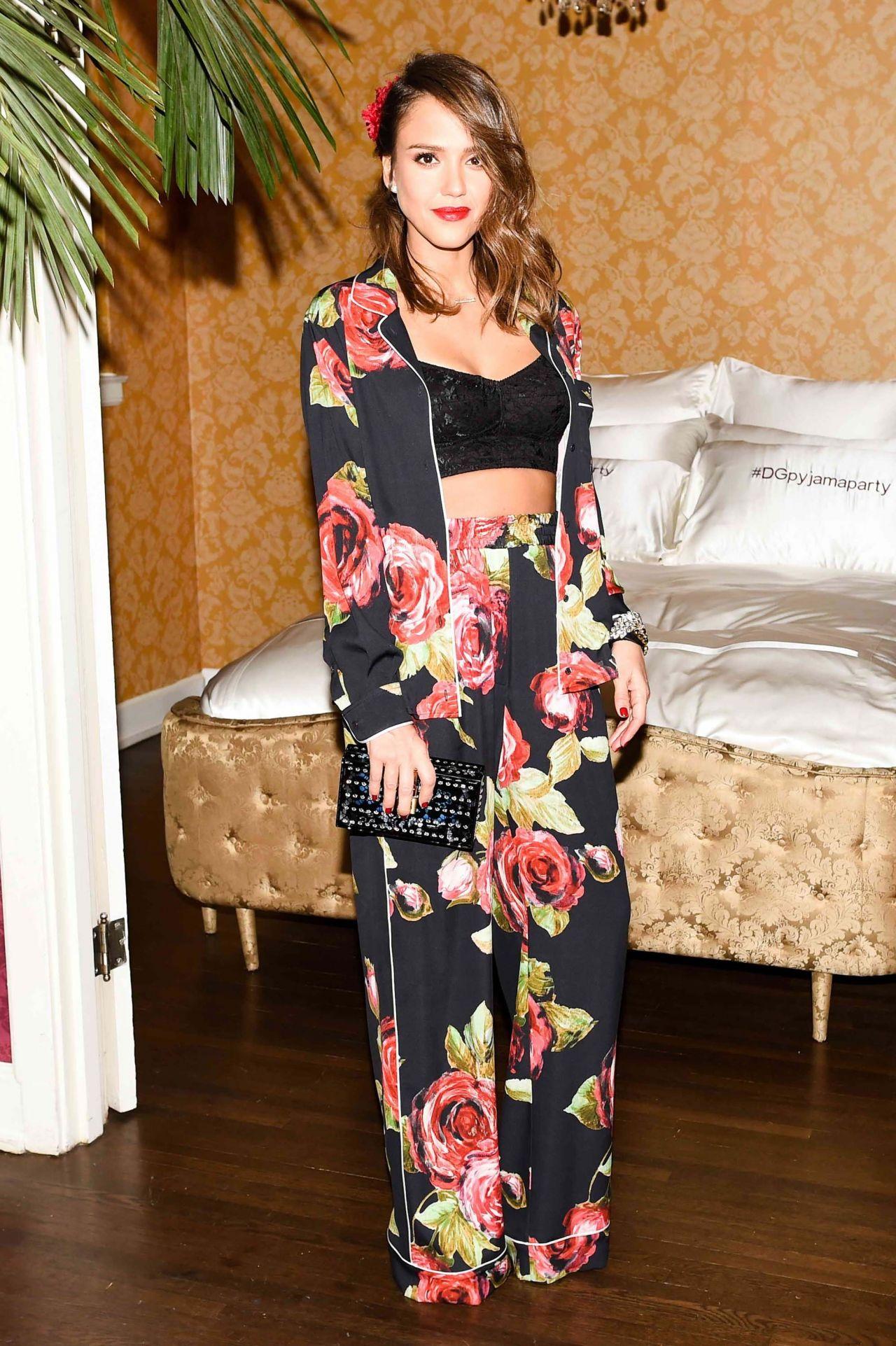 2de0f0eb57eb Jessica Alba - Dolce   Gabbana Pyjama Party in Los Angeles