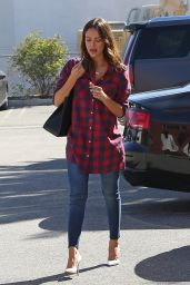Jessica Alba Embracing the Plaid Shirt - Out in Santa Monica, Febraury 2016
