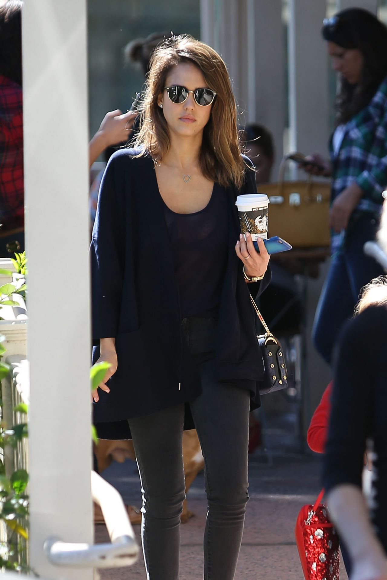 Jessica Alba Street Style Out In West Hollywood 2 15 2016
