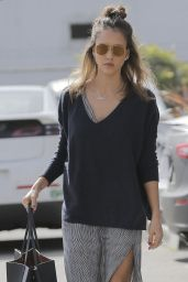 Jessica Alba Style - Leaving Her Office in Santa Monica 2/23/2016
