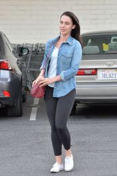 Jessica Lowndes in Tights - Out in Los Angeles 2/22/2016