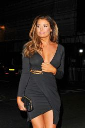 Jessica Wright Night Out Style - Sexy Fish Restaurant in London 2/2/2016