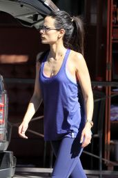 Jordana Brewster Sport Style - Out in Beverly Hills, 2/9/2016