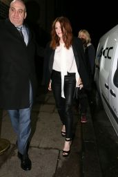 Julianne Moore Night Out Style - London, UK 2/12/2016