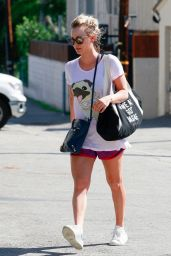 Kaley Cuoco Leggy in Shorts - Out in Los Angeles 2/22/2016