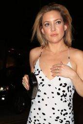 Kate Hudson Night Out Style - Outside a Restaurant in Hollywood, CA 2/23/2016