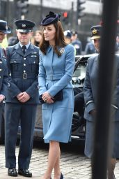 Kate Middleton - 75th anniversary of the RAF Air Cadets at St Clement Danes and The Royal Courts of Justice in London