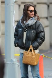 Katie Holmes Street Style - Out in NYC 2/5/2016