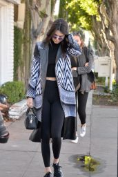 Kendall Jenner in Tights - Heading to Grab Coffee at Her Favorite Haunt Alfred in Beverly Hills 2/2/2016