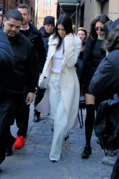 Kendall Jenner - Leaving Calvin Klein Fashion Show in New York City, February 2016